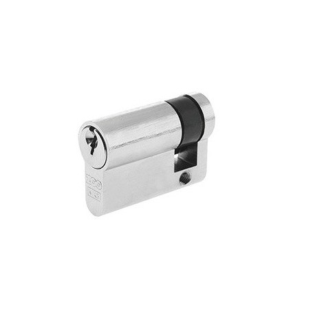 5 Pin 45mm Euro Profile Single Cylinder Satin Chrome
