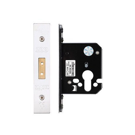 64mm Euro Profile Mortice Deadlock  Case Only c/w 48mm Backset - S.S.S.