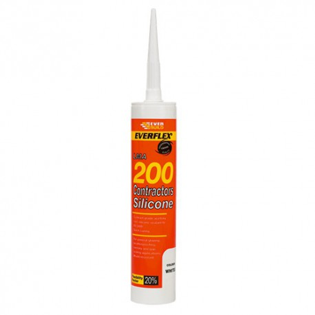 Everbuild 200 Contract LMA Silicone 295ml Cartridge Size Clear